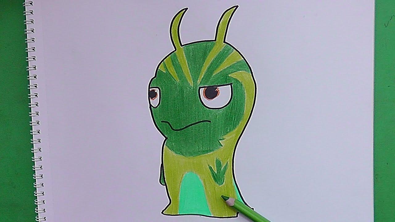 Dibujando y coloreando Moco (Bajoterra) - Drawing and ...