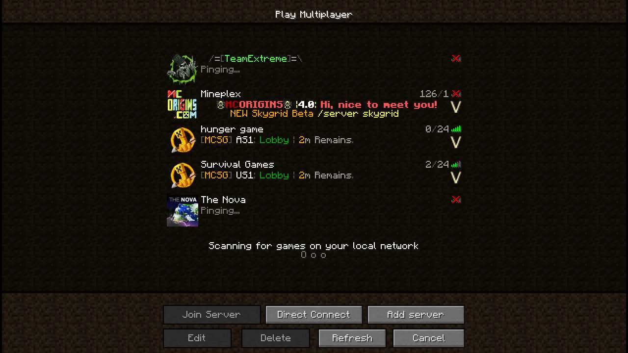 Скачать команды для сервера майнкрафт