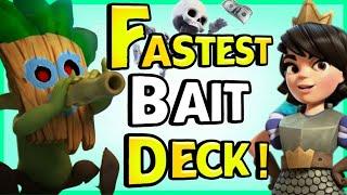 New fastest double baŗrel bait deck   Clash Royale