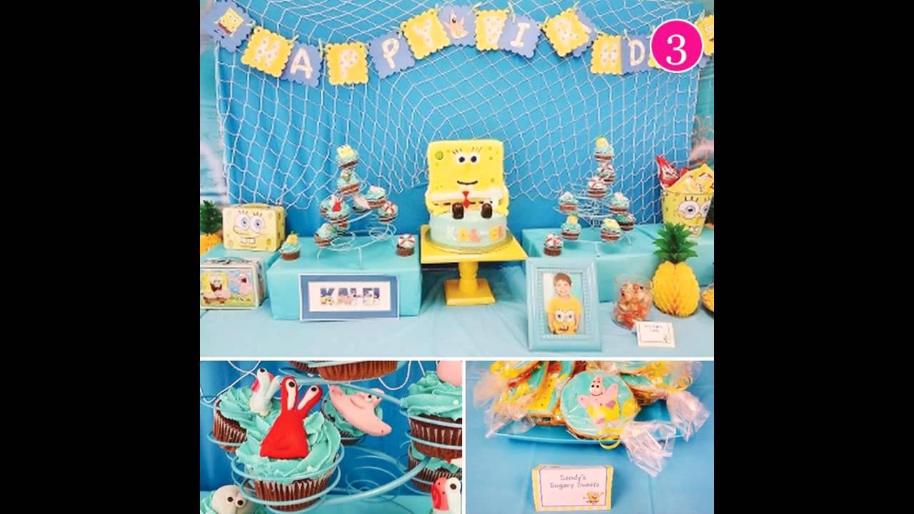 Cool Spongebob Birthday Party Decoration Youtube