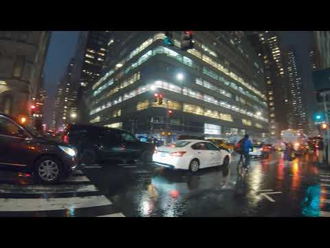 Midtown Manhattan, NYC Rain Walk | Grand Central Area to Central Park (Cyberpunk Vibes) - ASMR