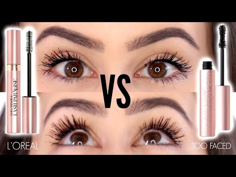 1b21cb16b44 Too Faced Better Than Mascara Dupes || L'Oreal Voluminous Lash Paradise  Review