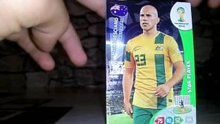 3 csomag 2014 vb fociskártya bontás