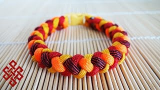 How to Make a 4 Strand Round Braid Paracord Bracelet with Buckles Tutorial