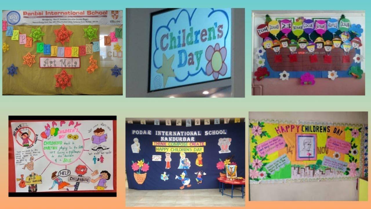 Children S Day School Display Board Ideas Notice Board On