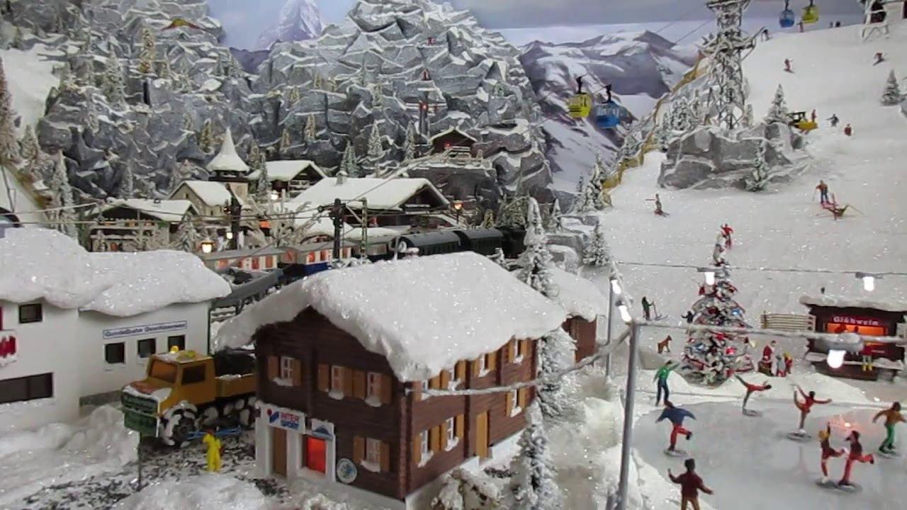 Modelspoorbaan Zwitserse scenery