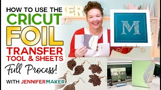 Amazing Cricut Foil Traฑsfer Tool Projects — Full Process + Free Foil Designs!