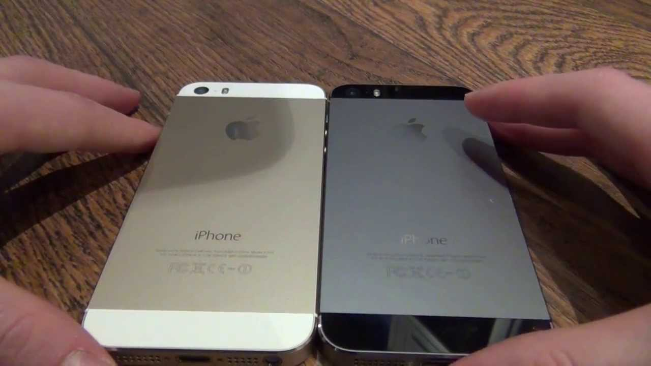 IPHONE 5S SILVER VS SPACE GREY