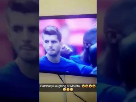 Chelsea Player Batshuayi Caught Laughing At Teammate's Penalty Miss (Watch Video)