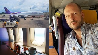 """Thai Airways Royal First Class """"light"""" on a B747 - pay Business, sit First"""