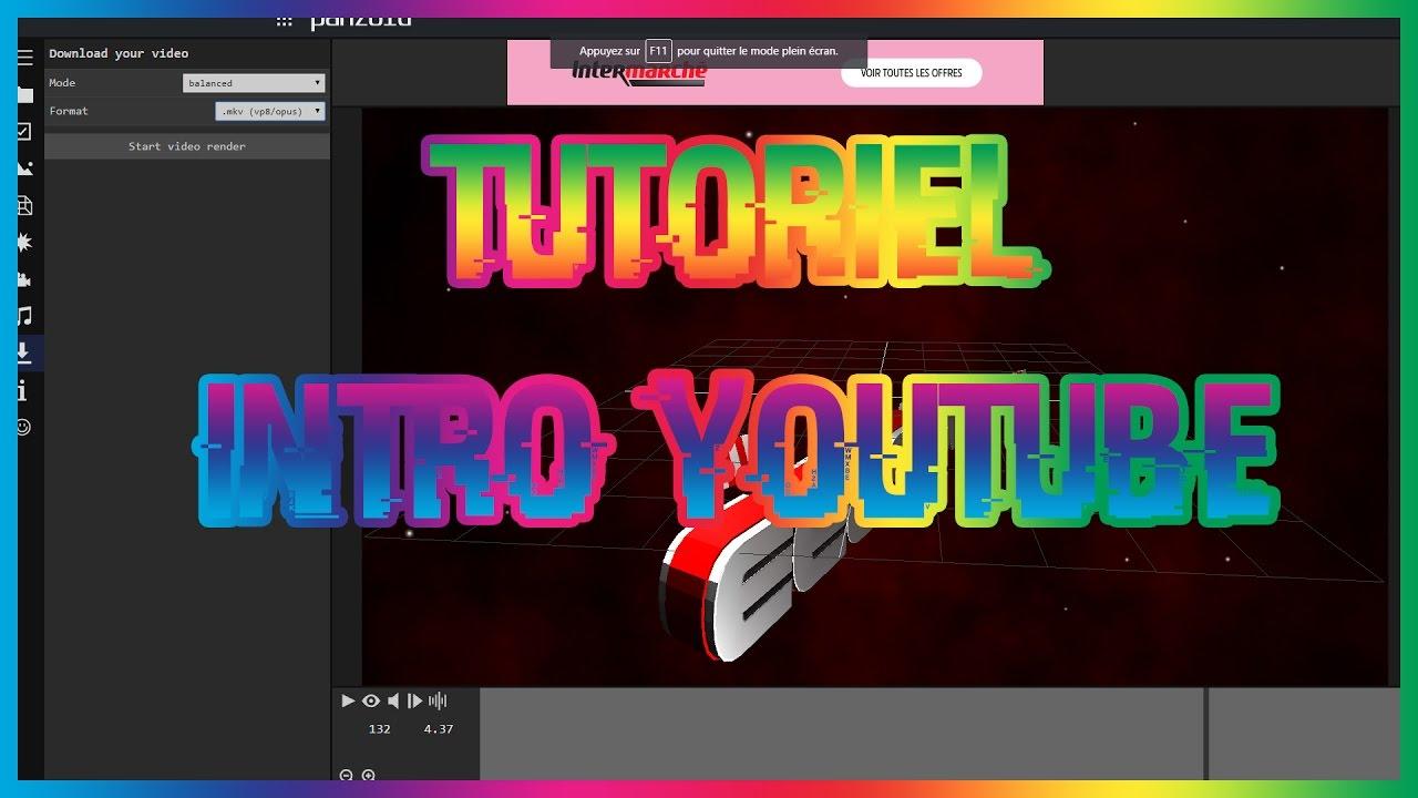 tutoriel fr  comment faire une intro youtube facilement    u26a1  sans logiciel