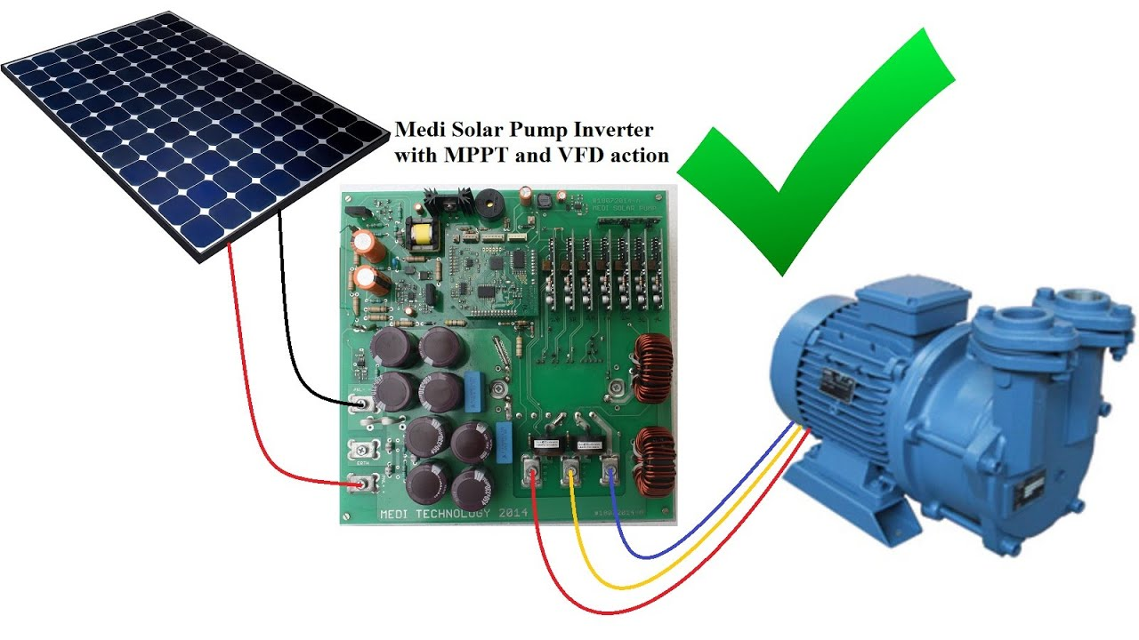 3 phase Solar Pump Inverter with MPPT and VFD 2  YouTube