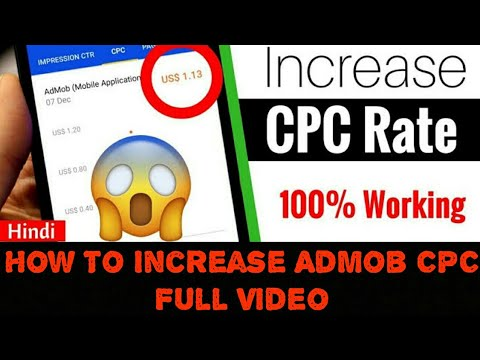 How To Get High CPC In AdMob (10$ - 15$ per click) | Admob Earning