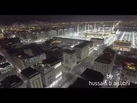 Drone footage of Al-Masjid an-Nabawi (Prophet's Mosque)