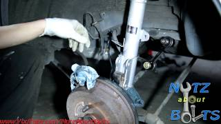 1993-2002 Toyota Corolla rear shock assembly remove and install