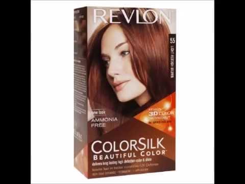 Revlon Colorsilk Beautiful Color Light Reddish Brown 55 1 Lication