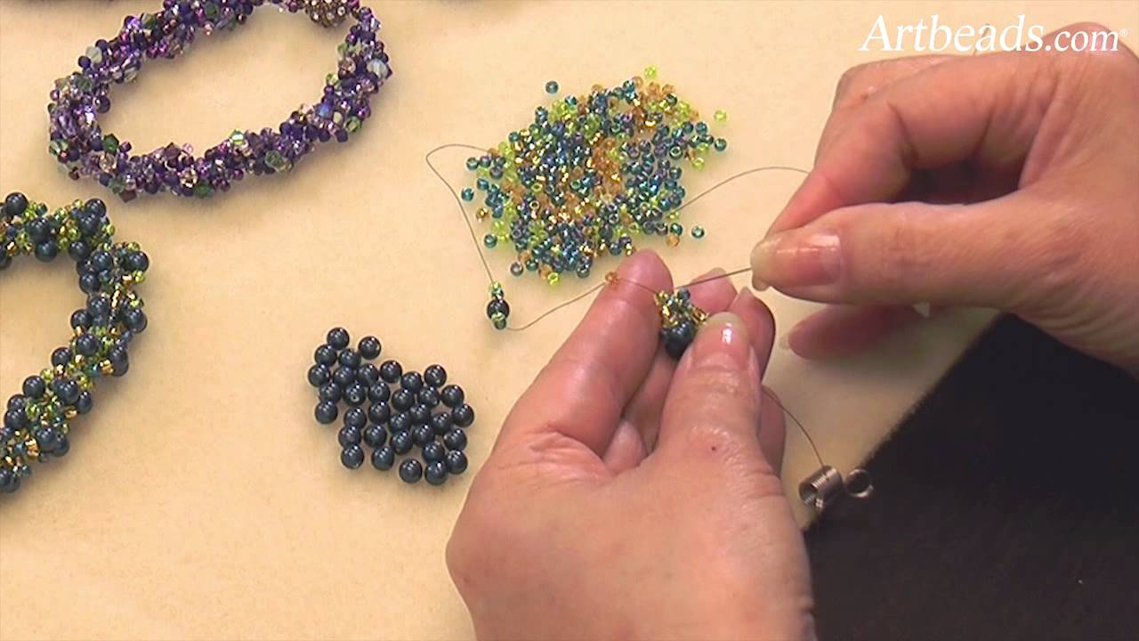 Artbeads mini tutorial spiral rope seed bead technique with artbeads mini tutorial spiral rope seed bead technique with cynthia kimura youtube baditri Image collections