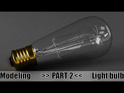 3DS MaX Tutorial - Edison Light Bulb Modeling PART 2