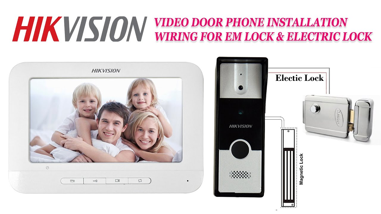 Hikvision Video Door Phone Installation And Elctric Lock