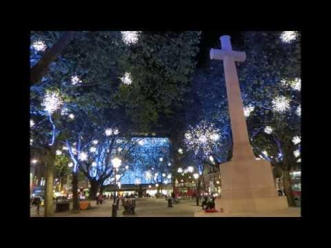 Christmas Lights In  Sloane Square Chelsea London 2013