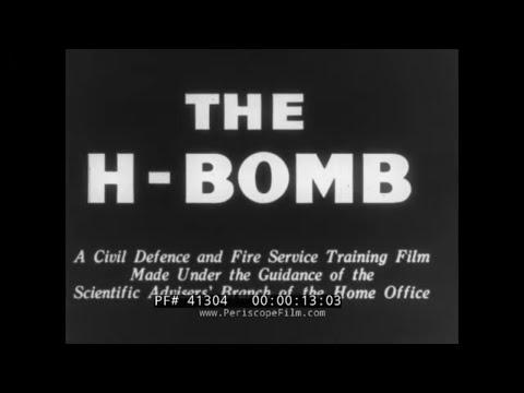 """ THE H BOMB "" 1956 UNITED KINGDOM CIVIL DEFENSE  TRAINING FILM  HYDROGEN NUCLEAR BOMB 41304"