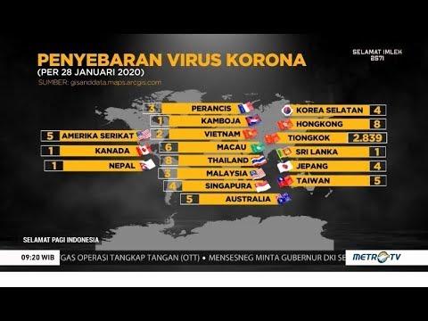Penyebaran Virus Corona Di Seluruh Dunia Cara Indonesia Cegah Virus Corona Youtube