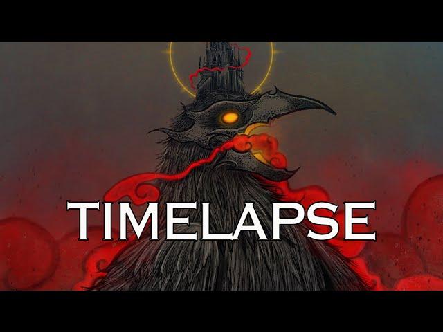 Crow Illustration Timelapse