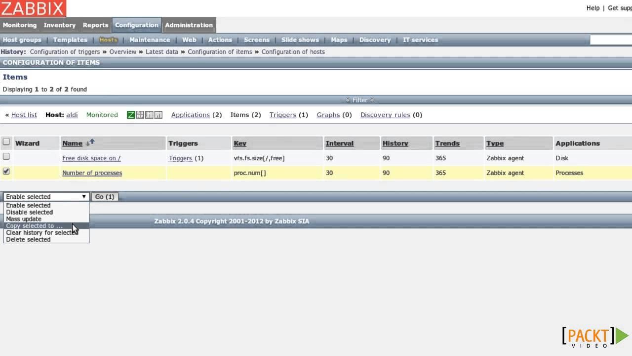 Zabbix Network Monitoring Essentials Tutorial: Templates | packtpub com