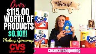 CVS COUPONING HAUL (11/11-11/17) FREE MAKEUP! Fantastic Deals & Cosmetics Giveaway!