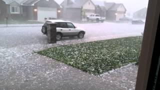 Hail storm in Billings Montana 5/18/2014
