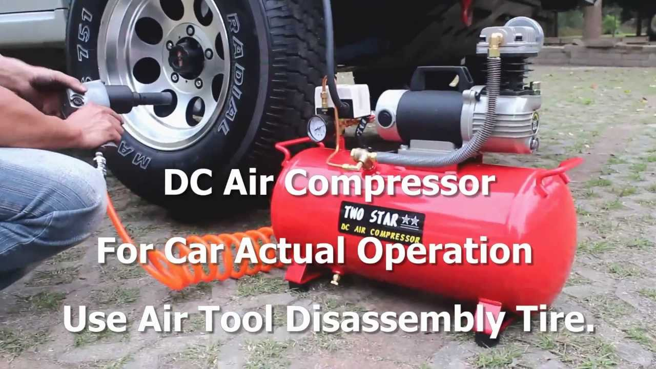 How To Use An Air Compressor >> Dc Air Compressor For Car Actual Operation Use Air Tools Disassembly