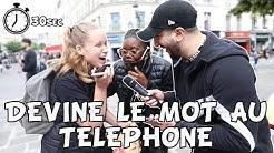DEVINE LE MOT AU TELEPHONE - 5€ SI TU REUSSIS - Micro Trottoir