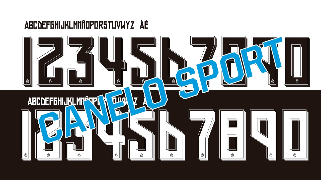 REAL MADRID 2015 2016 FONT VECTOR AND TTF FREE DOWNLOAD