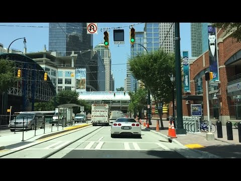 Driving Downtown - Charlotte North Carolina USA