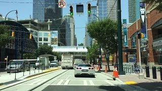 Driving Downtown - Charlotte - USA