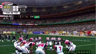 NFL 2012 Week 10 - Atlanta Falcons (8-0) vs New Orleans Saints (3-5) - 1st Half - NFL 2K5 - HD