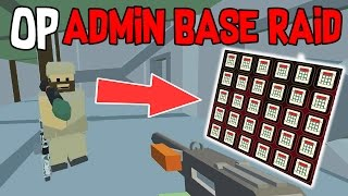 CHARGES FOR DAYS! OP LOOT ADMIN BASE RAID | Unturned Base Raid