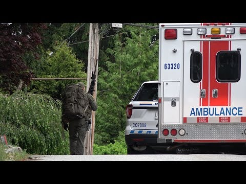 Shots fired at RCMP in Port Coquitlam BC Canada