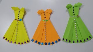 Origami skirt | Paper Skirt | Paper craft | paper frock | Paper girl craft |