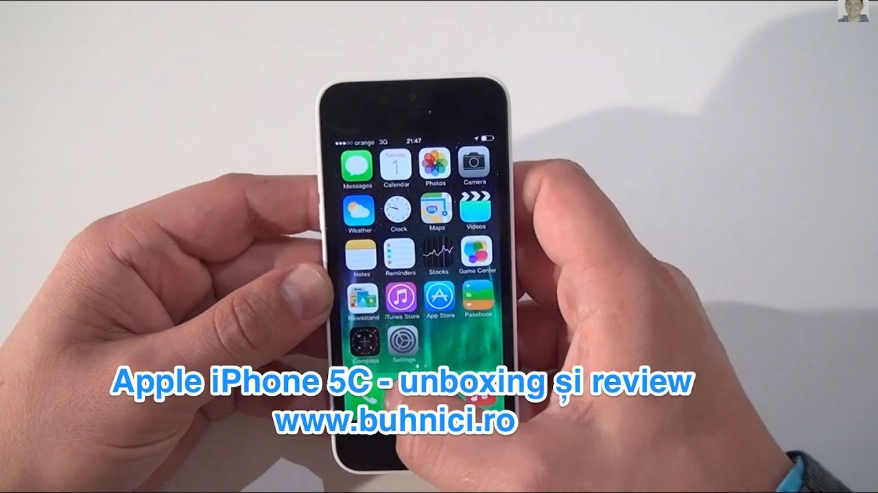 UNBOXING & REVIEW - Apple iPhone 5C (www.buhnici.ro)