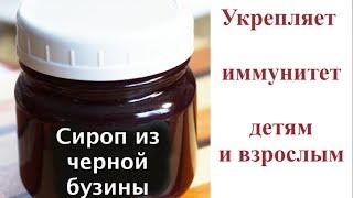 Сироп из черной бузины от простуды и гриппа для детей и взрослых-делаем сами