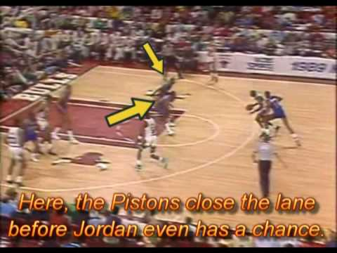 Michael Jordan vs. Piston's Defense (aka: