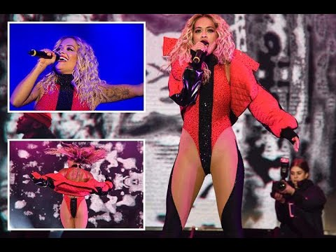 Rita Ora bares her bum in a red leotard during performance in her native Kosovo - 247 News