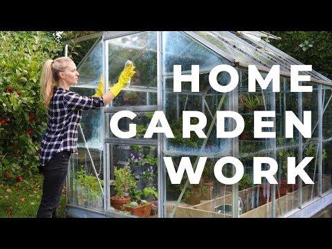 Home Garden Work: greenhouse, garden arch, & apples
