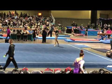 Casslyn Ward Level 10 Floor Routine Long Beach Invite Gymnastics Meet 2-24-17