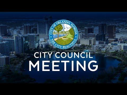 Orlando City Council Meeting - Monday, October 22, 2018