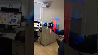 Тест смонтированного мной ролика в качестве голограммы. The test of my video as a hologram.