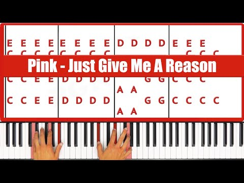 Just Give Me A Reason Pink Piano Tutorial - EASY