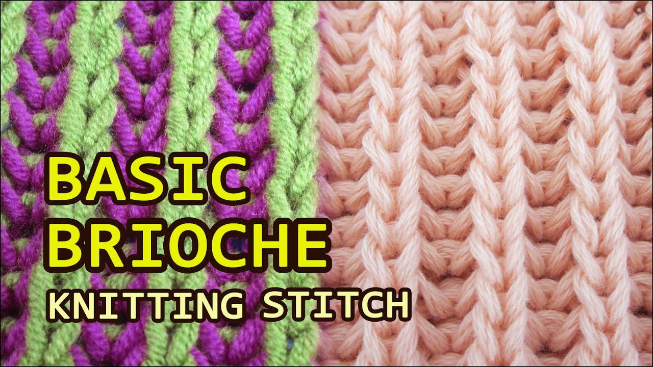 Brioche knitting one color two colors youtube bankloansurffo Choice Image