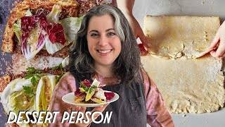 Claire Saffitz Makes Easy Pie Dough &amp Savory Galette  Dessert Person